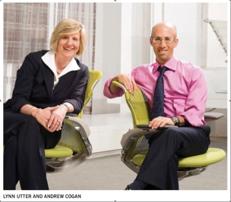 Lynn Utter (President and COO) and Andrew Cogan (CEO)
